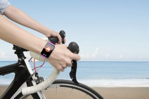 Wearable tech watch for biking